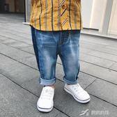 男寶寶彈力牛仔褲夏季嬰兒休閒長褲嬰童裝百搭褲子潮 樂芙美鞋