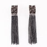 鏈條耳環-歐美個性大方長款女耳飾73ns29【時尚巴黎】