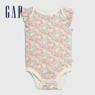 Gap 女嬰 童趣印花信封領包屁衣 580511-彩色花卉印花