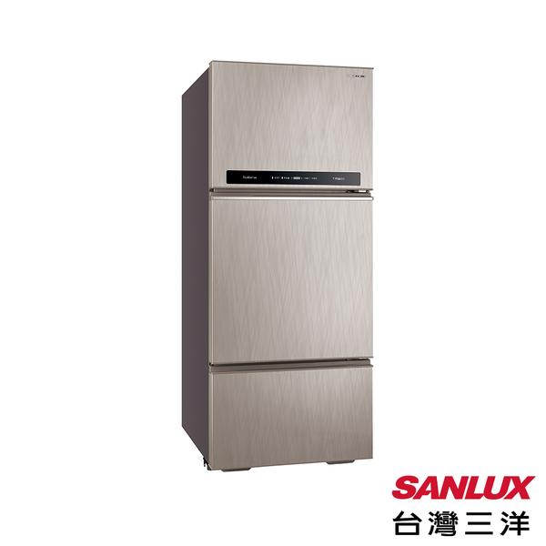 台灣三洋 SANLUX 一級能效 475L三門直流變頻冰箱 SR-C475CV1A-贈好禮二選一,隨機出貨