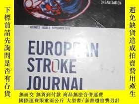 二手書博民逛書店european罕見stroke journal 2018-03