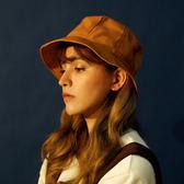 古著文藝日系圓頂小檐漁夫帽男女夏季純色光身遮陽帽盆帽      韓小姐的衣櫥