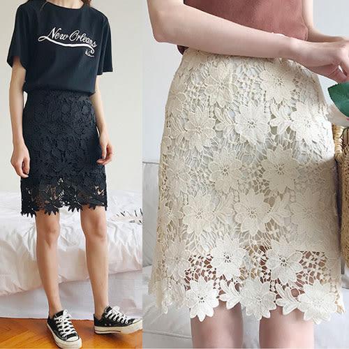 【不腿不換】氣質鏤空蕾絲裙S-L-4色【HA481】Minuet