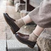 復古女鞋軟妹 英倫風平底單鞋ins小皮鞋日系JK制服鞋樂福鞋女