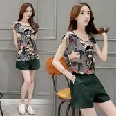 FINDSENSE G5 韓國時尚 夏季 女性套裝 上衣  穿搭 一整套