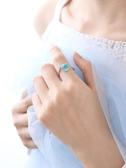 戒指 人魚淚尾巴藍色戒指開口戒 莎拉嘿幼
