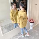 兒童外套 女童外套秋裝2019新款潮兒童小女孩超洋氣中長款風衣網紅童裝上衣