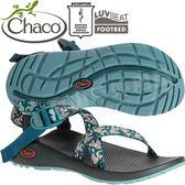 Chaco ZCW01_HD39碎花綠鴨 女越野運動涼鞋-Z1標準款 綁帶涼鞋