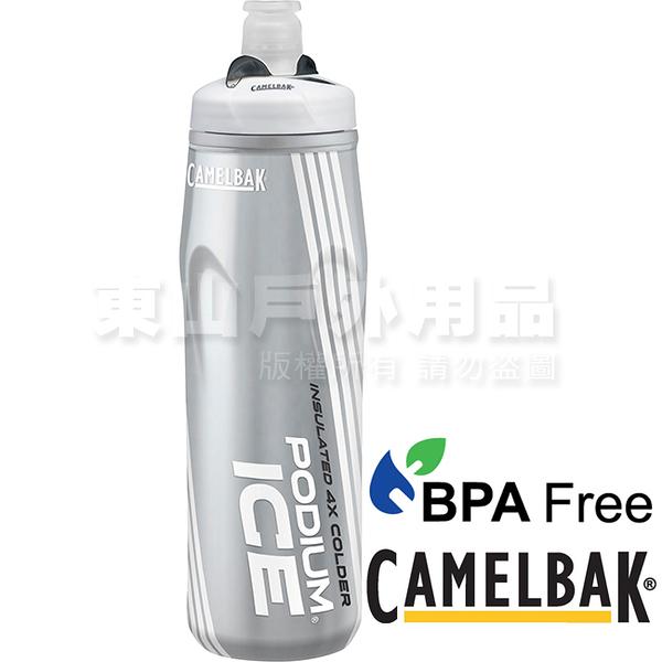 CamelBak 1302101062雪白 620ml 酷冰保冷噴射水瓶 Podium Ice單車水壺
