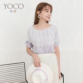 東京著衣【YOCO】秀氣甜美拼接蕾絲領雪紡上衣-S.M.L(190500)