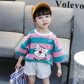 兒童短袖T恤純棉男童夏裝洋氣時髦女童半袖打底衫3寶寶上衣 夏 鉅惠85折