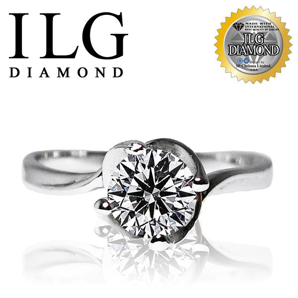 【ILG鑽】頂級八心八箭鑽石戒指-綻放摯愛款 主鑽約75分 特殊爪台螺旋優美弧形設計 RI016