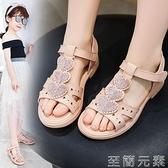 兒童涼鞋女童鞋夏季新款軟底時尚亮片公主鞋小女孩涼鞋女生鞋 至簡元素