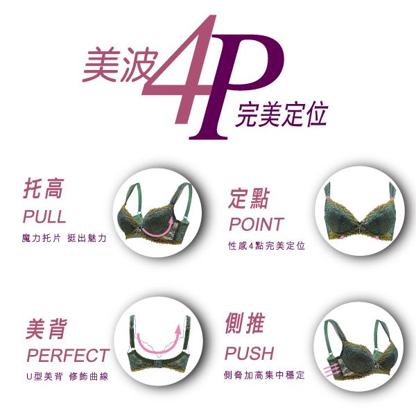 思薇爾-撩波系列A-C罩蕾絲包覆內衣(皇家紫)