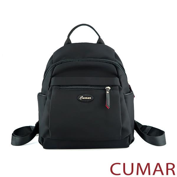 【CUMAR女包】輕量防潑水尼龍後背包-黑色