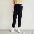 【GIORDANO】女裝打摺休閒九分褲 - 09 標誌黑