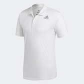 ADIDAS CLIMACOOL POLO 全白 訓練 短T 男(布魯克林) CW3931