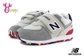 New Balance 574 小童 慢跑鞋 灰色狂野 寬楦 寶寶運動鞋 O8475#灰色◆OSOME奧森童鞋