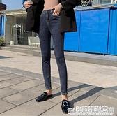 高腰牛仔褲女秋季新款大碼胖mm提臀顯瘦小腳彈力百搭鉛筆褲熱褲潮 完美居家