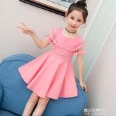 女童洋裝-童裝新款女童洋裝夏款韓版中大童小女孩裙子兒童洋氣公主裙 現貨快出