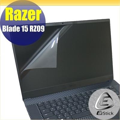 【Ezstick】Razer Blade 15 RZ09 靜電式筆電LCD液晶螢幕貼 (可選鏡面或霧面)