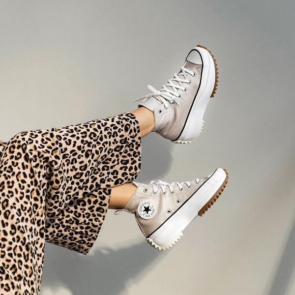IMPACT Converse Run Star Hike 奶茶色 鋸齒鞋 厚底 亮面 皮革 裸色 金屬 169242C