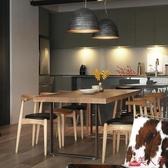 餐桌 北歐實木合家用小戶型長方形現代簡約客廳餐廳吃飯桌子 【美人季】jy