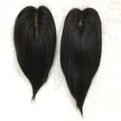 假髮片(真髮絲)-直髮仿真頭皮頭頂補髮女假髮73uf18【時尚巴黎】