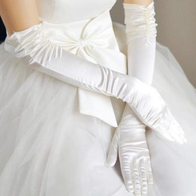 新娘手套結婚婚紗短長款露指手套