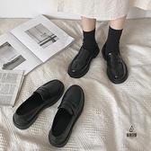 皮鞋女英倫風平底春秋復古日系單鞋【愛物及屋】
