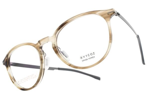VYCOZ光學眼鏡 TOSS HON (透咖啡-銀) 文藝小臉貓眼款 薄鋼眼鏡 # 金橘眼鏡