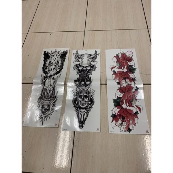 超長半甲手臂紋身貼紙防水貼紙刺青貼紙(10張入/777-9854)