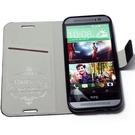Redberry HTC One (M8) 甜漾簡約 立架式側掀皮套