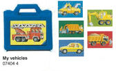 Ravensburger維寶六片方塊拼圖-我的工程車