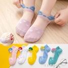 女童水晶玻璃絲襪夏季純棉兒童超薄透氣短襪女孩寶寶冰絲襪子公主 美眉新品