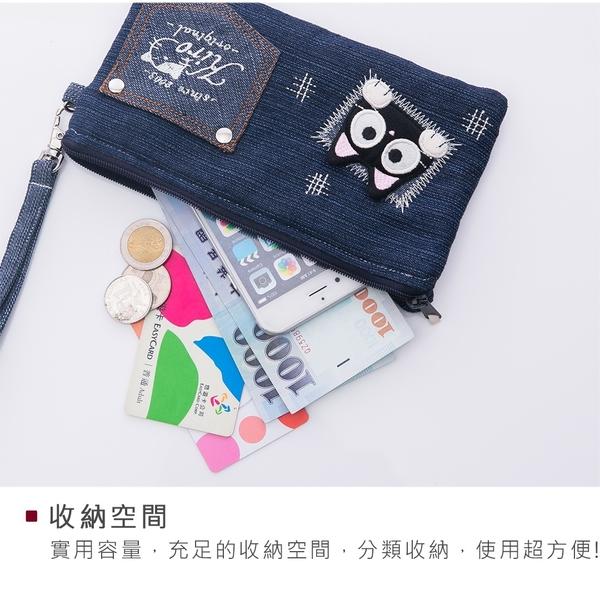 Kiro貓‧小黑貓 鋪棉 3C收納/手拿包/手機包【820143】