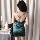 夜店洋裝 夜店夜場夏季復古修身顯瘦性感包臀低胸露背女連身裙-Ballet朵朵