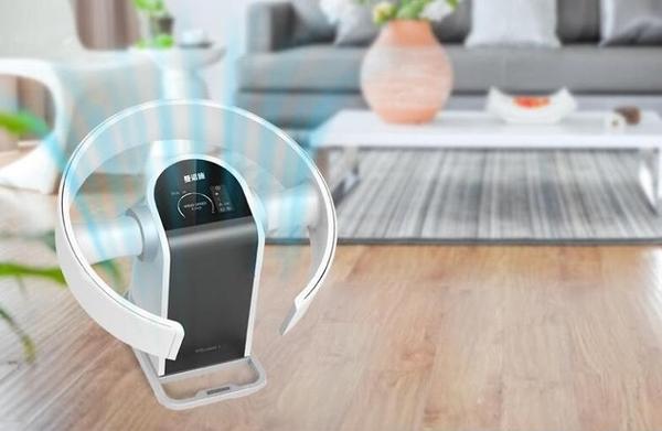 無葉風扇家用臥室靜音台式遙控無扇葉電風扇掛壁搖頭辦公落地扇 台灣專用110V 3C優購