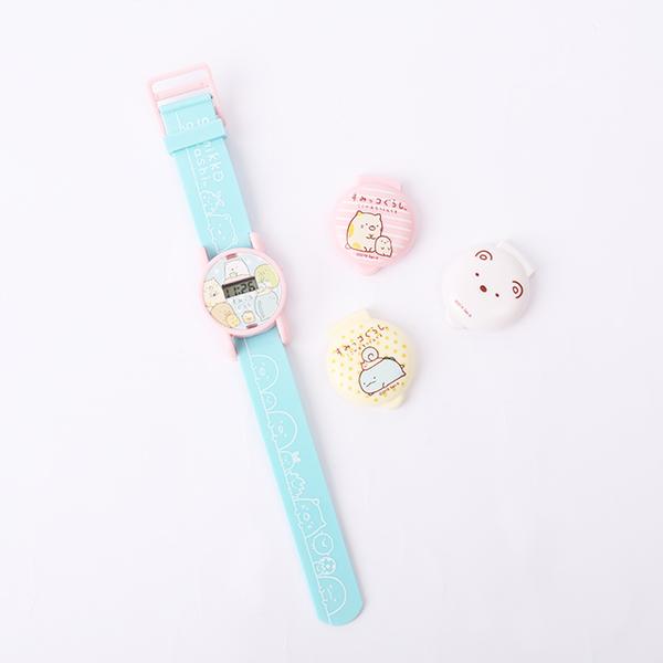 日貨角落生物可換蓋矽膠兒童電子錶- Norns 日本進口 卡通電子手錶
