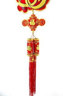 新年掛飾 年貨掛件 龍香包+中國結+雙炮掛飾