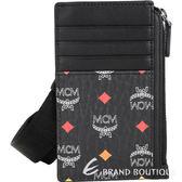 MCM Skyoptic Visetos 經典圖騰皮革零錢包/證件夾(黑色) 1920883-01