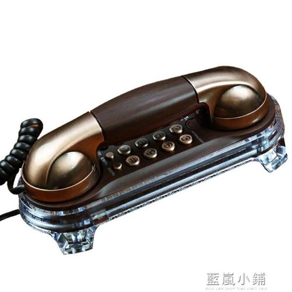 美思奇 復古壁掛式電話機 創意歐式仿古老式家用掛牆有線固定座機qm 藍嵐