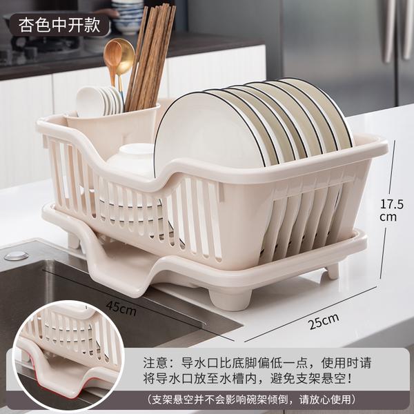 399免運 日式瀝水架 廚房置物架 放碗筷收納盒裝碗碟盤家用碗架碗櫃收納架子