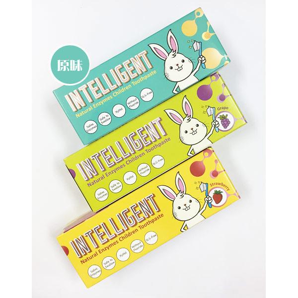 Intelligent 因特力淨 天然兒童酵素牙膏40G-原味/草莓/葡萄【佳兒園婦幼館】