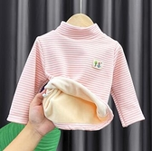 女童上衣 女童高領加絨打底衫兒童童寶寶小童男童一體絨春裝保暖上衣【快速出貨八折鉅惠】