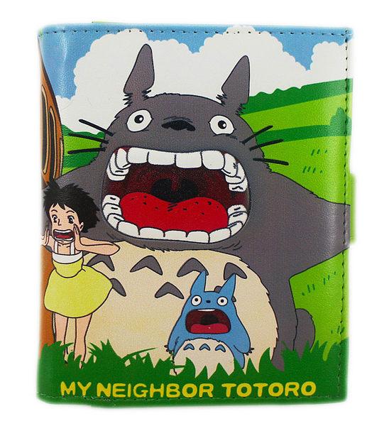 【卡漫城】 Totoro 龍貓 綠色 皮夾 ~ 短夾 龍貓公車 宮崎駿 草壁梅 May 磁扣式 附零錢包 煤炭