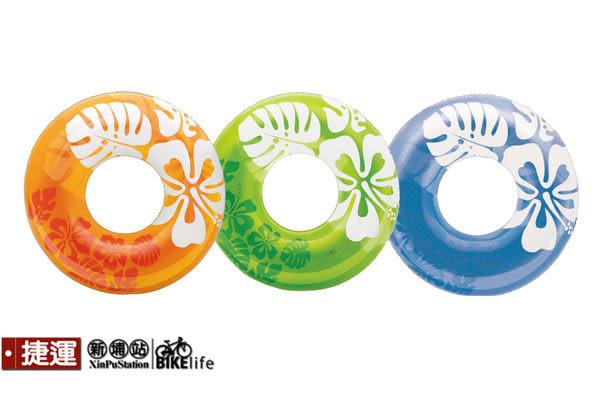 INTEX 59251扶桑花 圖案游泳圈