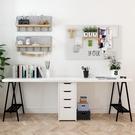 實木書桌北歐輕奢辦公桌簡約桌子現代臥室桌柜一體家用電腦桌靠墻【頁面價格是訂金價格】