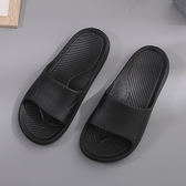 【333家居鞋館】流線波紋 休閒寬版室外拖鞋-黑