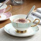 咖啡杯組合高檔歐式陶瓷咖啡杯碟金邊 個性...